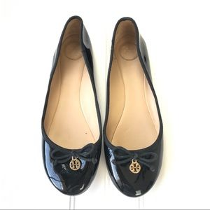 Tory Burch | Black Patent Leather Ballet Flats 9.5